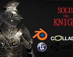 Solus - The Knight - Low Poly Character 3D model