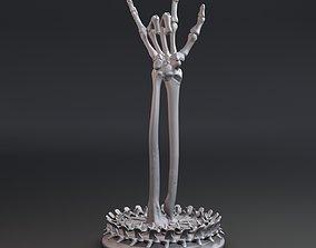 Skeleton hand with rock gesture 3D print model