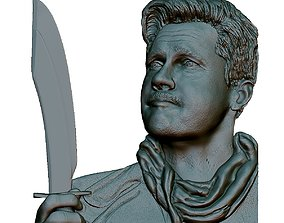 3D print model Portrait Bas-relief Unglorious Bastards 2