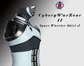 Cyborg Warzone - Space Warrior Shirt A future 3D asset
