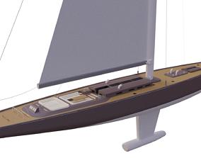 3D Decorative Sailboat