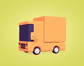 Cartoon Truck 3D model game-ready