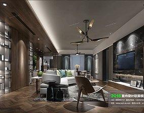 3D Modern Living room 5