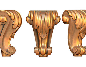 3D print model furniture leg