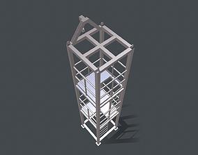 Platform for instalation of sandwich panels 3D model