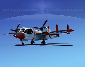 3D model Grumman OV-1D Mohawk V05
