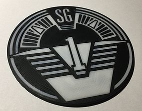 3D printable model Stargate SG-1 Patch Coaster