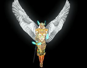 A female flying angel 3D asset