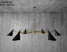 Currey and Company - Library Chandelier 9000-0311 3D model