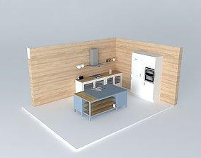 3D English kitchen