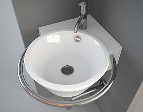 Althea Hera Corner wash-basin 3D model