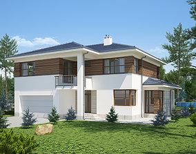 Villa House 3D settlement