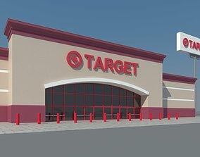 Target Market 3D model fastfood