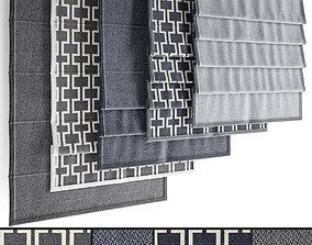 Roman blinds set 24 3D model