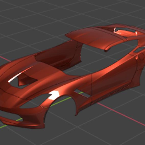 3D Corvette Fairing