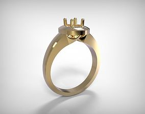 3D print model Jewelry Golden Ring Round Top