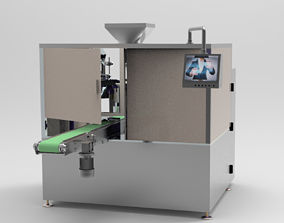 3D Open bag filling and packing machine