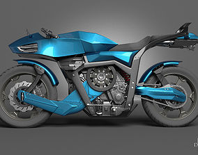 Futuristic motorcycle 3D