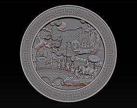 3D printable model Mural landscape wood carving file stl 5