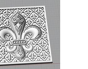 3D print model fleur de lis