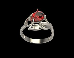 Women ring with gems 3dm stl diamond-ring