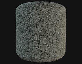 Cracked asphalt material 3D model