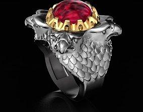 3D print model Ring Falcons