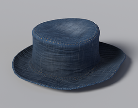Denim Hat 3D model