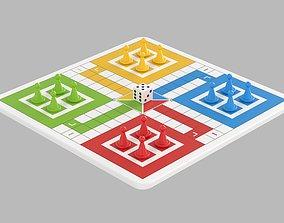 3D model Ludo Game cube