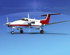 Beechcraft B200 GT King Air V04 3D model