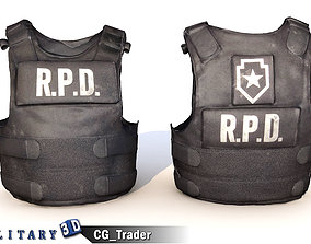 low-poly RPD Police Vest Lowpoly 3D Model
