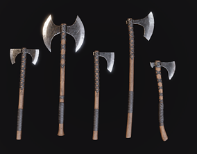 3D asset Viking Axes - Realistic Game Ready Pack