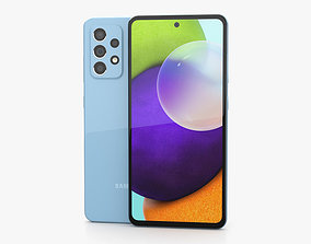 3D model Samsung Galaxy A52 Awesome Blue