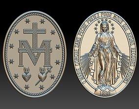 Our Lady Virgen Milagrosa Miraculous Medal 3D print model
