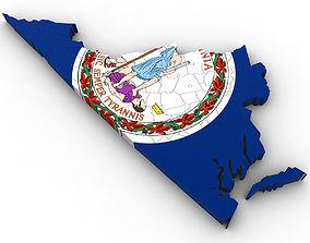 Virginia Political Map 3D