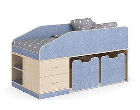 3D model Legenda K08 childrens bed