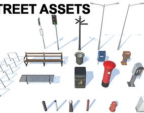 22 Street Assets Pack 3D