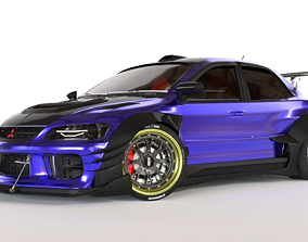 3D animated Mitsubishi Lancer Evolution IX