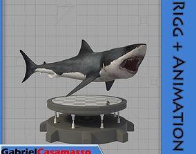 Great White Shark 3D model animated shark