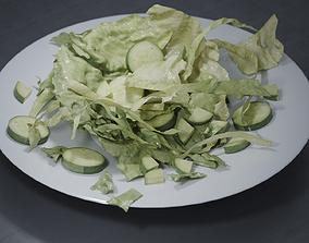 3D Food sallad plate A