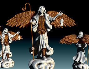 Arch-angel Raphael - CNC Rounting - 3D printable model 5