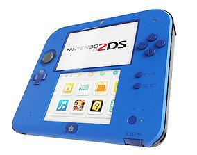 realtime Nintendo 2DS - Blue -White - Red 3D model