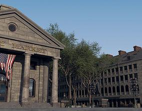 3D model Quincy Market Boston Exterior