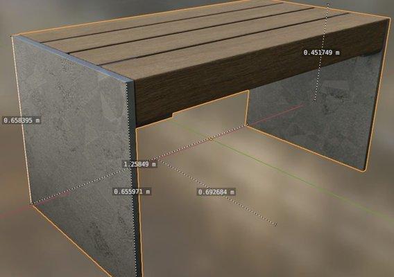 Park Bench 8 Teak 2 Metal Frame 3