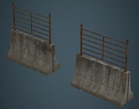 3D asset Concrete Barrier 2C