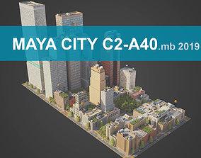 City District C2-A40 MAYA 3D asset