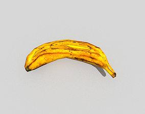 3D model low poly banana