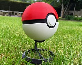 PokeBall Fully fonctional with Button and 3D print model