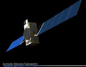 Galileo satellite 3D model