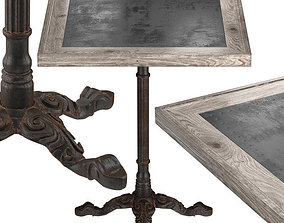 Restaurant Table Square Metal Sheet II 3D model
